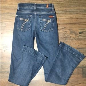7 for all mankind slim trouser jeans Size 23 flare
